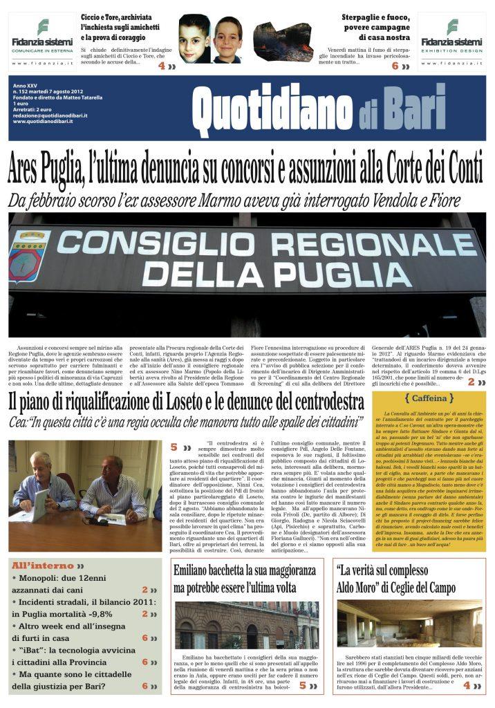 Giornali Pagina 8 Quotidiano Di Bari