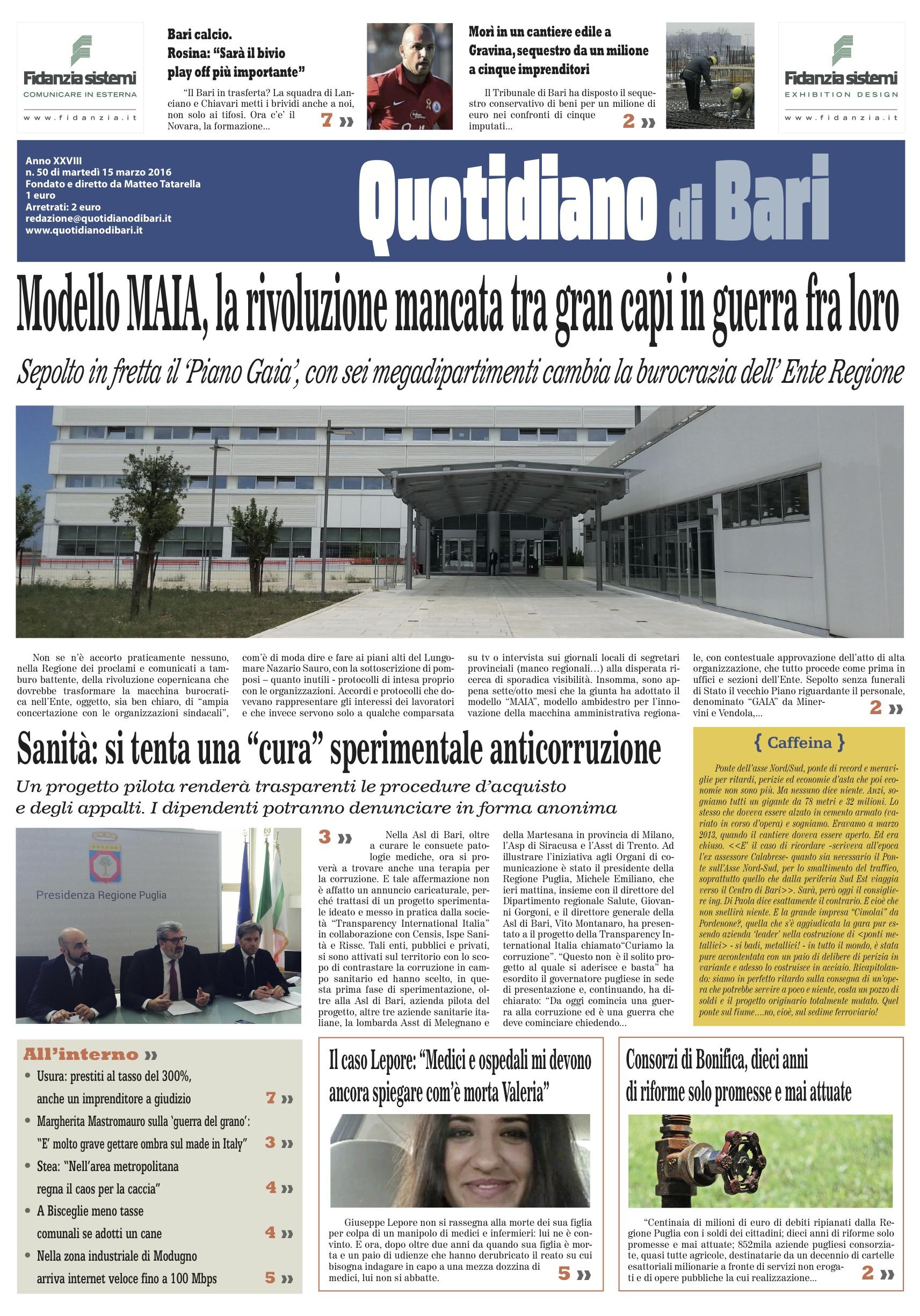 Aziende Modugno Zona Industriale pubblicazione 15_03_2016